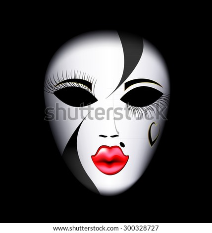 face mask - stock vector