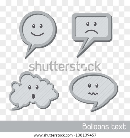 faces balloons text over square background. vector illustration - stock vector