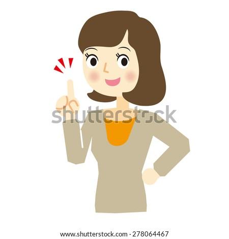 Facial expression of woman, check - stock vector
