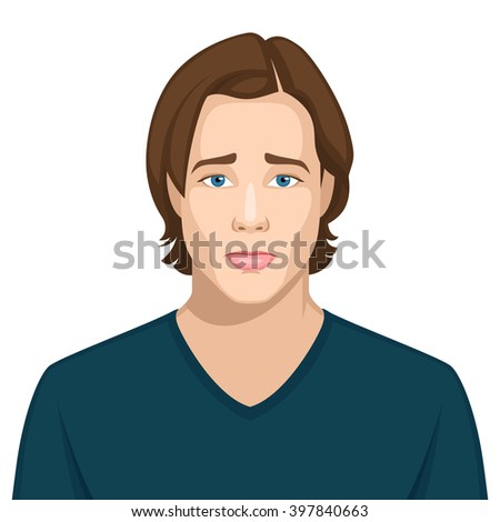 Facial expression: Resentful - stock vector