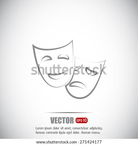 facial mask symbol vector illustration - stock vector