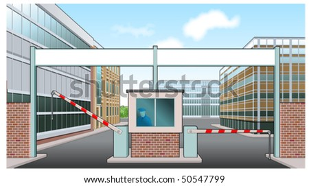 Factory entrance - stock vector