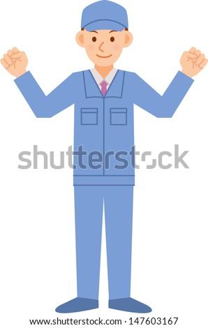 factory worker - stock vector