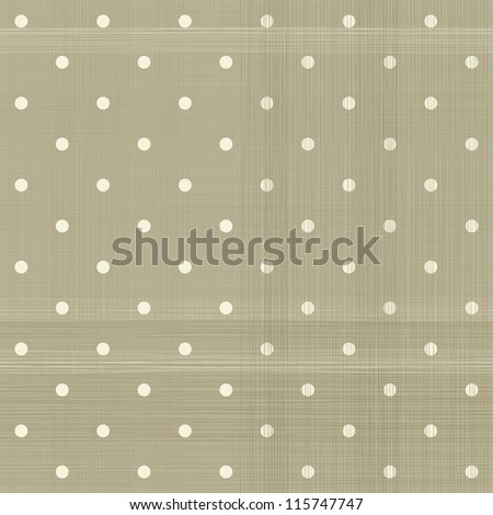 faded brown polka dot seamless textured pattern - stock vector