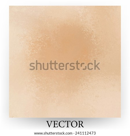 faded peach background vector, vintage color and sponged distressed texture in soft blended brush strokes with dark center and light border  - stock vector