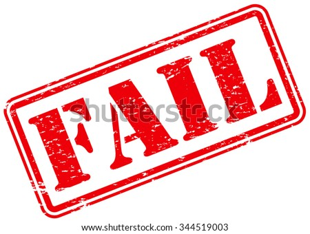 Fail Rubber Stamp Sign - stock vector