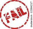fail stamp - stock vector