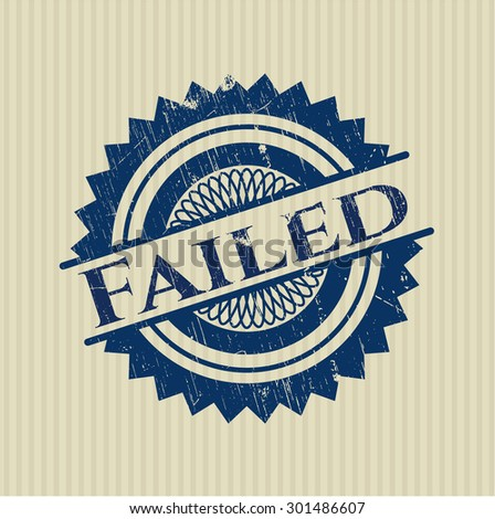 Failed rubber stamp - stock vector