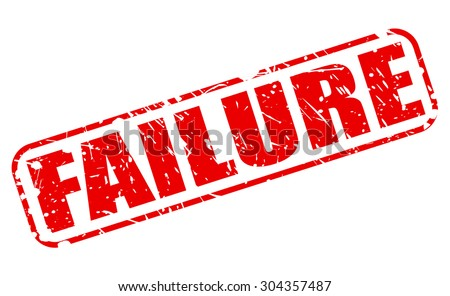 Failure red stamp text on white - stock vector
