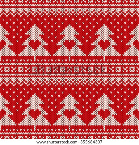 Fair Isle Sweater Design. Seamless Knitted Pattern - stock vector