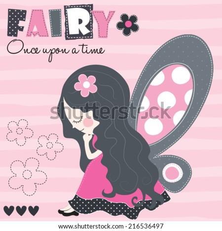 fairy angel vector illustration - stock vector