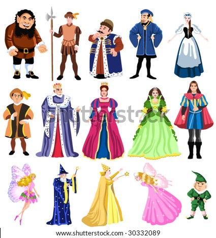 fairy tales characters - stock vector