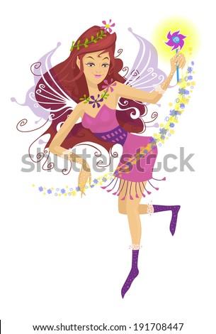 Fairy - Vector illustration - stock vector