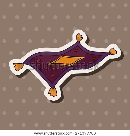 Flying carpet stock photos images pictures shutterstock for Aladdin carpet vector