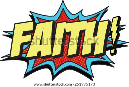 faith - stock vector