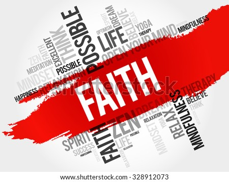 Faith word cloud concept - stock vector