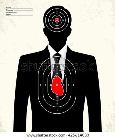 Fake businessman - shooting range target - stock vector