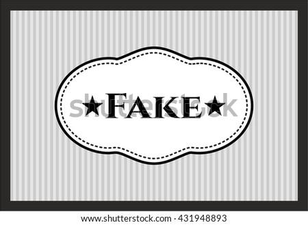 Fake card - stock vector