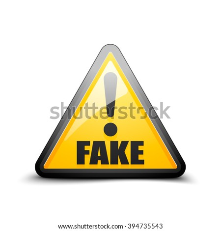 Fake Exclamation hazard sign - stock vector