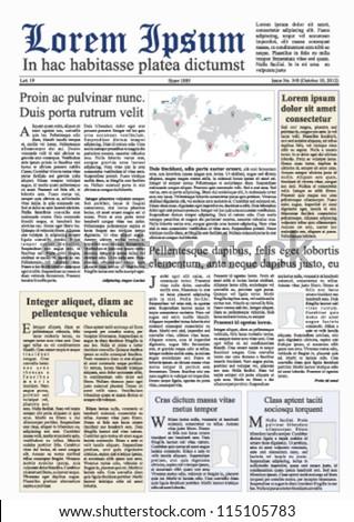 Fake newspaper vector - stock vector