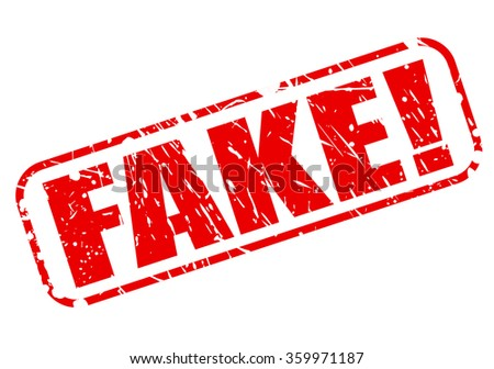 FAKE red stamp text on white - stock vector