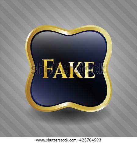 Fake shiny badge - stock vector
