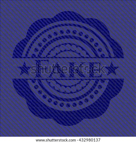 Fake with denim texture - stock vector