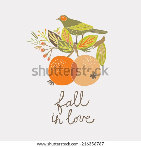 Fall in Love - stock vector