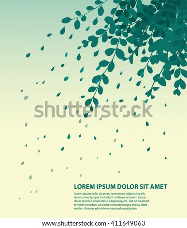 falling leaves blowing in the wind - stock vector