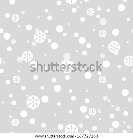 Falling snow. Snowflakes seamless pattern (vector version) - stock vector