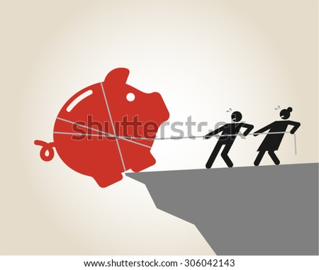 Family budget savings economy finance - stock vector