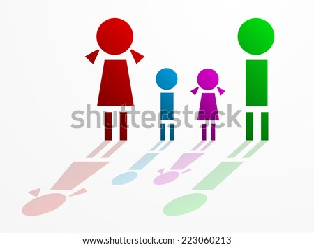 Family concept - stock vector