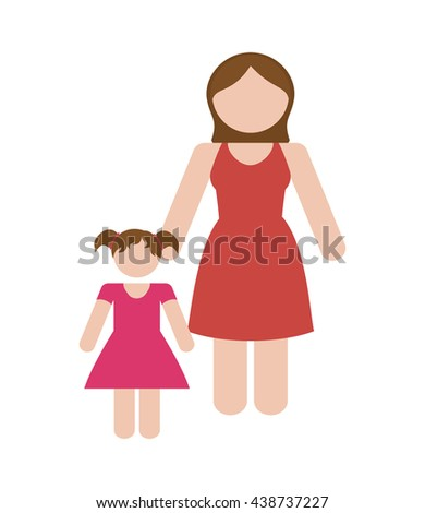 family concept. avatar icon. colofull, flat and isolated design - stock vector