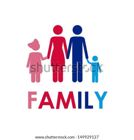 family design over white background vector illustration   - stock vector