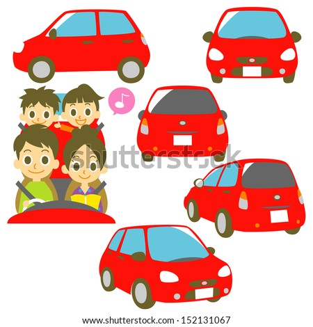 family drive car - stock vector
