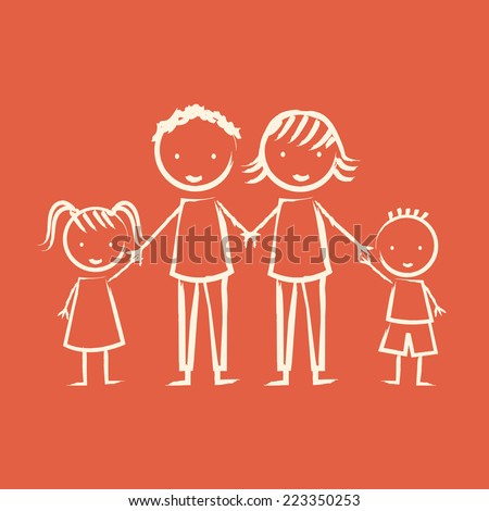 family graphic design , vector illustration - stock vector