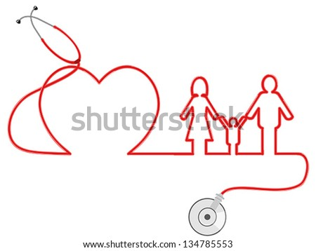 family Healthcare - stock vector