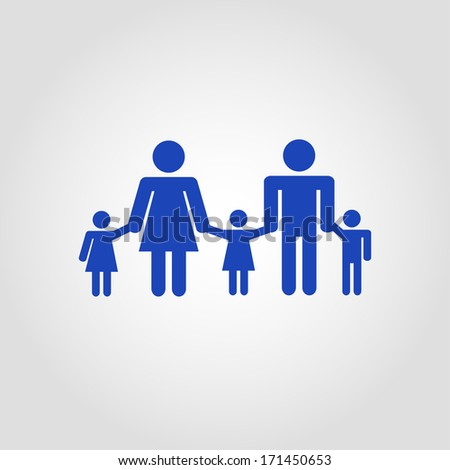 family icon over white background. vector illustration - stock vector