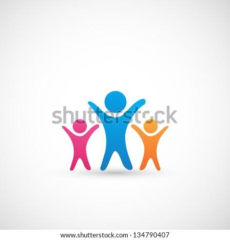 Family Icon vector - stock vector