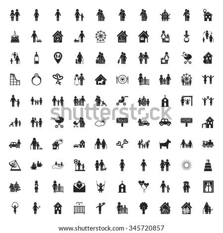 Family Icons Set. Family Icons Simple. Family Icons Black. Family Icons. Family Set. Family Icons App. Family Set Web. Family Icons Vector. Family Set Symbol. Family Set Image. Family Set Shape. - stock vector