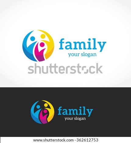Family Logo,people logo,vector logo template - stock vector
