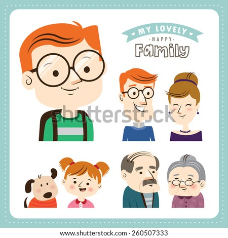 Family. People character design. - stock vector