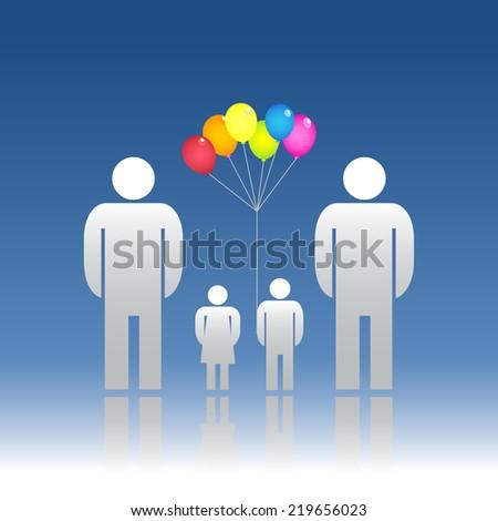 Family same gender - stock vector