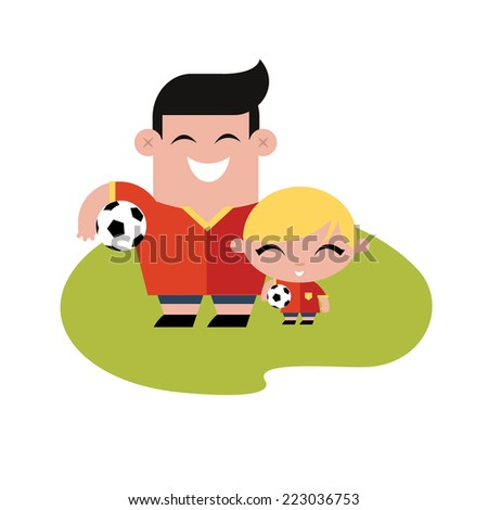 FAmily soccer football time - stock vector
