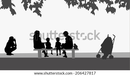 Family together - stock vector