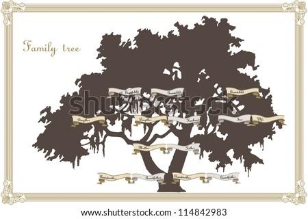Family tree template - stock vector