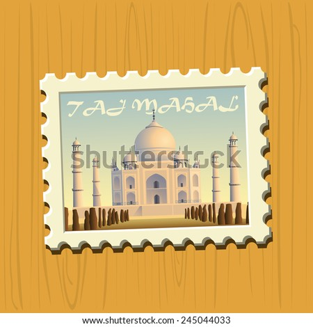 Famous destination stamps - India - stock vector