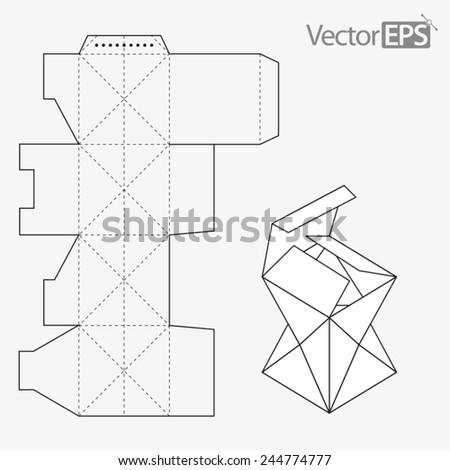 Fancy box - stock vector