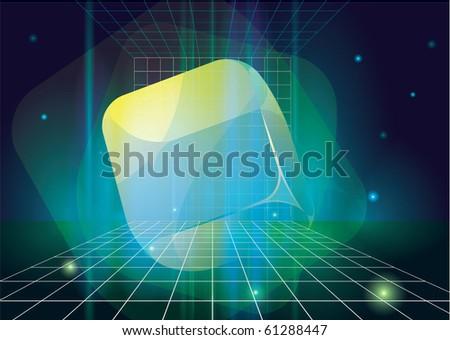 Fancy cubes. Vector. - stock vector