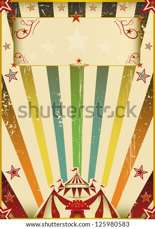 Fantastic color circus. A vintage background with multicolor sunbeams on circus theme. - stock vector